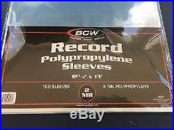 1000 BCW Record Vinyl Album Clear Plastic Outer Sleeves Bags Covers 33 RPM LP