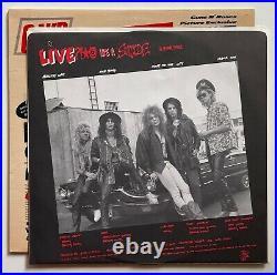 1988 GUNS N ROSES Album G N R LIES Vinyl 1ST PRESS w Inner OG COVER Lp NEAR MINT
