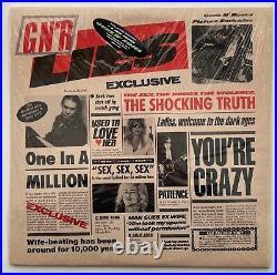 1988 GUNS N ROSES Album LIES Vinyl BANNED COVER w\ Shrink & Hype Lp OG NEAR MINT