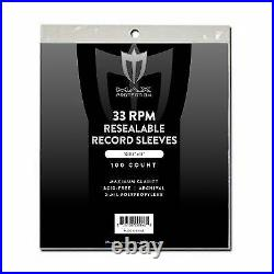 2000 Max Pro Record Sleeves Resealable Bag Outer 33 RPM LP Covers Album Sleeves