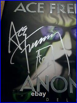 ACE FREHLEY (KISS) signed autographed vinyl album ANOMALY COVER RARE Rock