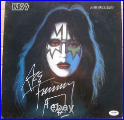 Ace Frehley signed Kiss Album Cover PSA/DNA Ace Frehley Kiss Solo Album Cover