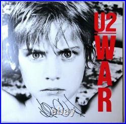 Adam Clayton Signed Autographed Album Cover U2 War Bassist JSA JJ82052