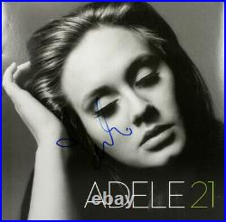 Adele Authentic Signed 21 Album Cover with Vinyl Autographed BAS #A02104