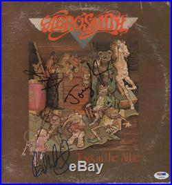 Aerosmith x3 Autographed Signed Toys In The Attic Album Cover PSA LOA