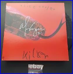 Alice Cooper Signed Vinyl Album Cover Killier JSA Witnessed COA