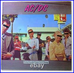 Angus Young Signed Autographed Record Album Cover AC/DC Dirty Deeds JSA GG68680