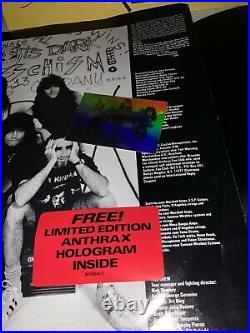 Anthrax State of Euphoria Autographed Album LP Cover Vinyl Guarantee 100%