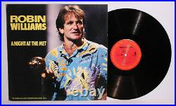 Autographed Hand Signed ROBIN WILLIAMS Record Album Cover LP Night at th Met