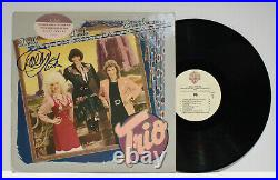 Autographed Hand Signed TRIO Record Album Cover LP Dolly Parton Ronstadt Harris