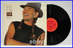 Autographed Hand Signed WILLIE NELSON Record Album Cover LP Me & Paul