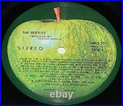 BEATLES 1968 WHITE ALBUM FIRST PRESSING EX/NM COVER & LPs WITH PHOTOS AND POSTER