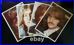 BEATLES'68 WHITE ALBUM ALL 7 LABEL ERRORS EX/NM COVER VG LPs WITH PICS & POSTER