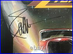 BILLY GIBBONS Signed ZZ TOP ELIMINATOR Promo LP ALBUM COVER with Beckett BAS COA