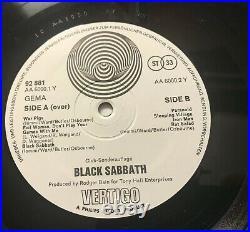 BLACK SABBATH s/t LP Album UNIQUE diff Cover Germany only VERTIGO SWIRL Club ED