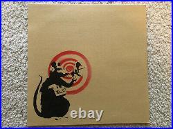 Banksy Radar Rat Brown LP Vinyl Album Cover Art Silkscreen