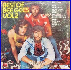 Barry Gibb signed Bee Gees LP Album Cover Best of Volume 2 PSA/DNA auto