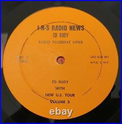Beatles American Tour with Ed Rudy #3 LP Album Rare BEATLES Red Bold Cover Orig