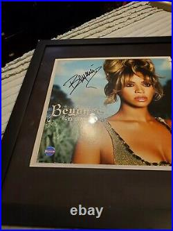 Beyonce Autographed Professionally Framed Album Cover. Coa