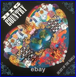 Big Country Signed'heart Of The World' Album Cover Autographed By All 4 Jsa Loa