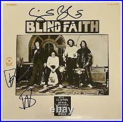 Blind Faith Signed Album Cover Steve Winwood Ginger Baker Autograph Framed JSA