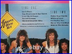 Bon Jovi, Slippery When Wet, Japanese + Obi + Inner. Original Banned Cover