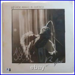 Bono & The Edge Dual Signed Autographed Album Cover U2 Wide Awake GV801883