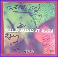 Boogie Wonderland Girls Against Boys Group Signed Album Cover PAAS COA