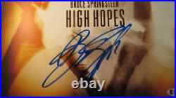 Bruce Springsteen Signed High Hopes Album Cover BAS COA LOA Autograph E Street