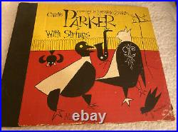 Charlie Parker With Strings ALBUM With (3) 78 Rpm Records- DSM Cover RARE