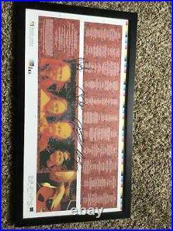 Crosby Stills Nash Neil Young Signed Album Cover Proof Framed PSA Autograph RARE
