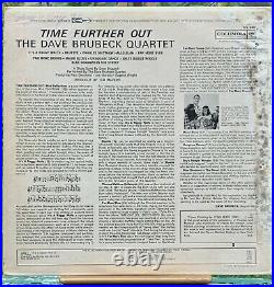 DAVE BRUBECK Quartet TIME FURTHER OUT SIGNED ALBUM COVER