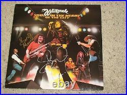 DAVID COVERDALE & BERNIE MARSDEN WHITESNAKE SIGNED ALBUM COVER coa