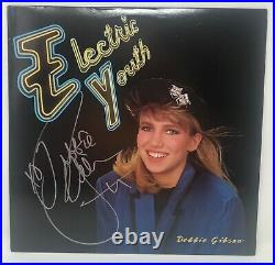 DEBBIE GIBSON Signed Electric Youth RECORD Album COVER LP Sexy Hot BECKETT COA