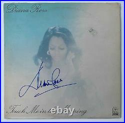 DIANA ROSS Signed Autograph Touch Me in the Morning Album Record LP Cover JSA
