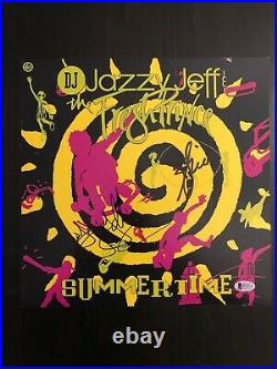 DJ JAZZY JEFF & WILL SMITH SIGNED AUTOGRAPH -12x12 SUMMERTIME SINGLE ALBUM COVER