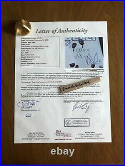 DMX NAS Rare Autographed BELLY Vinyl LP Cover Signed Album with JSA Certification