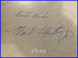DR. MARTIN LUTHER KING ORIGINAL AUTOGRAPH ON ALBUM COVERAmerican Dream Speech