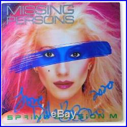 Dale Bozzio Signed Autographed Record Album Cover Missing Persons JSA HH36268