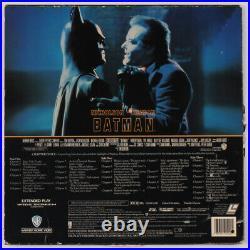 Danny Elfman Signed Batman Soundtrack Vinyl Record Album Cover (PSA COA)