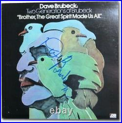 Dave Brubeck Autographed Album Cover Two Generations of Brubeck PSA M62667