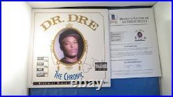 Dr. Dre Signed The Chronic Album Cover BAS COA LOA Autograph Beckett N. W. A