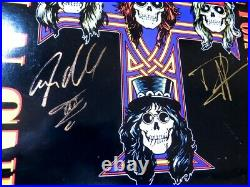 Duff McKagan Steven Adler Dual Autographed Album Cover Guns N' Roses JSA KK78425