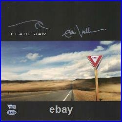 Eddie Vedder Pearl Jam Autographed Yield Album Cover with Hand Drawing BAS