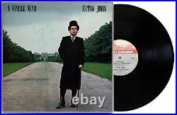 Elton John Best Wishes Signed A Single Man Album Cover With Vinyl BAS #AA03330