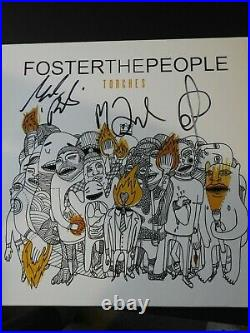 Foster The People Signed Torches Vinyl Album Cover