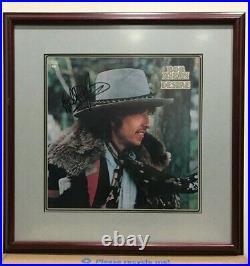 Framed Bob Dylan signed Desire Album Cover Autographed black sharpie