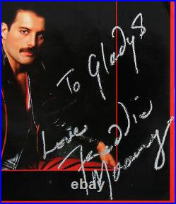 Freddie Mercury Signed Love Me Like There's No Tomorrow Album Cover With Vinyl JSA