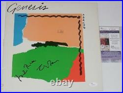 GENESIS AUTOGRAPHED ABACAB ALBUM COVER (JSA COA) Mike Rutherford & Tony Banks