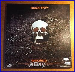 George Clinton Signed Funkadelic Album Cover MAGGOT BRAIN INSCR JSA/COA P34351